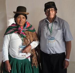 Marina Mamani and Silvano Morales