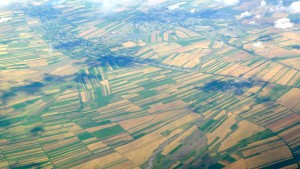 Patchwork fields at angles