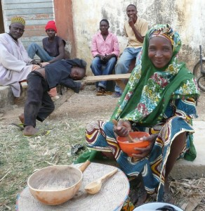 Fulani woman selling snacks