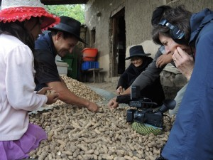 sorting groundnuts