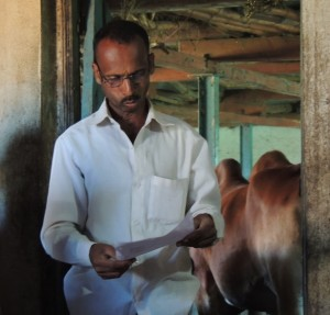 Hunamat Pawale reads fact sheet
