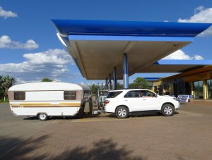 Caravan at petrol staton copy