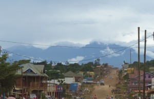 View to Rwenzori from Beni roundabout copy